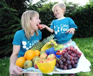 2F. Clare Smith, from Cancer Focus, teaches school children about healthy eating and exercise