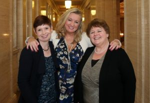 Tracy with Roisin and her local MLA Jo-Anne Dobson