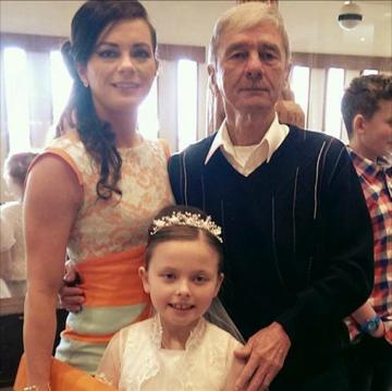 Joanne Clarke with her dad Aidan and Ellen 2