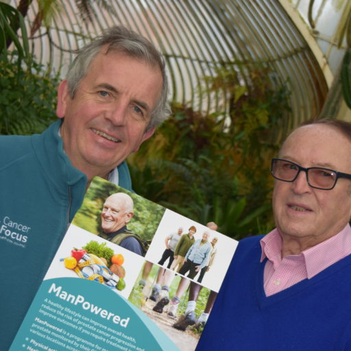 Cancer Focus NI's ManPowered health programme is for men with low risk prostate cancer.