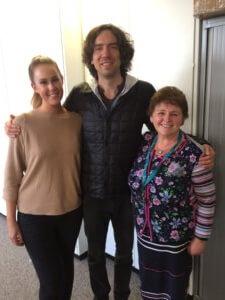 Snow Patrol's Gary Lightbody meets Cancer Focus NI staff