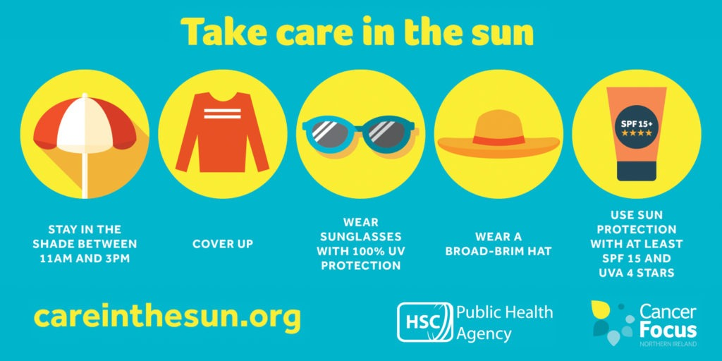 protect your skin take care in the sun infographic