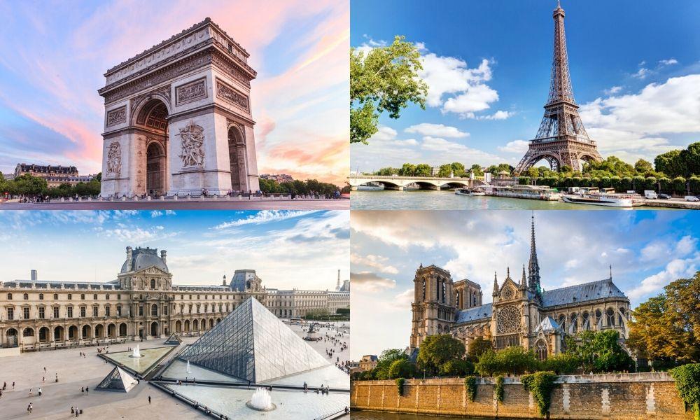 Arc De Triomphe, Louvre Museum, Eiffel Tower & Notre Dame