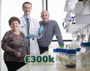 Cancer Focus CEO Roisin Foster announces a £300k fund for pancreatic and oesophageal cancer research at Queen's University Belfast