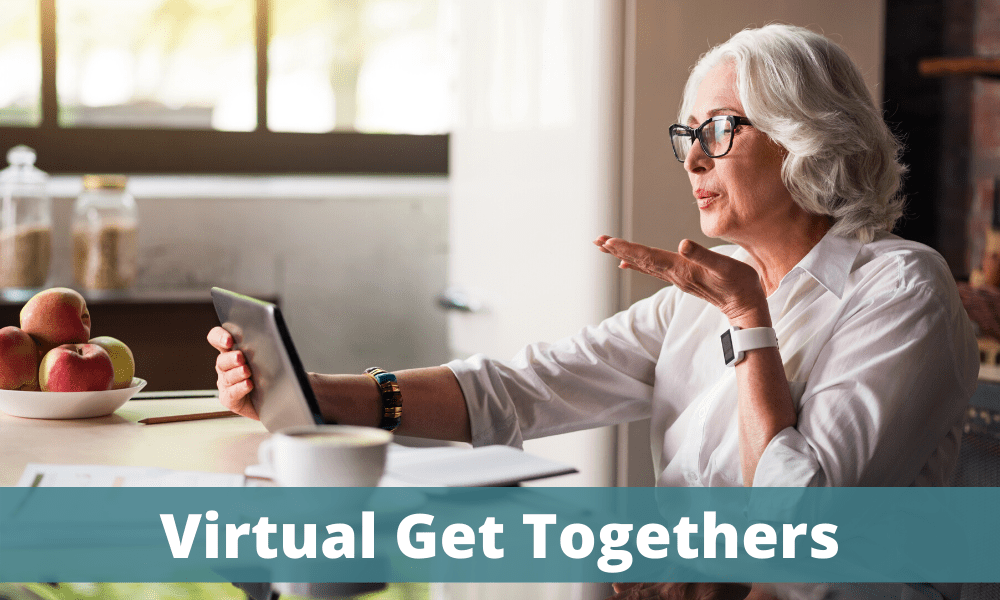 Virtual Get Together - woman chatting on a video call on her computer