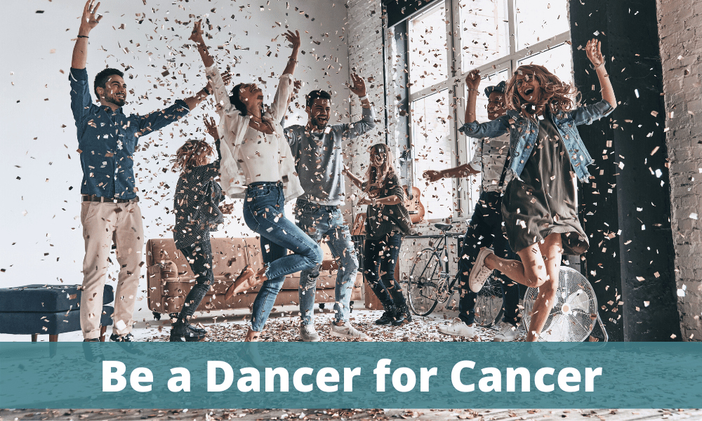 Dancer for Cancer - people dancing in their living room