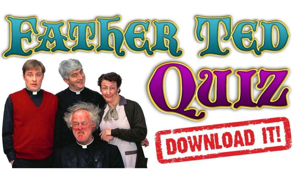 Father Ted quiz characters with download button