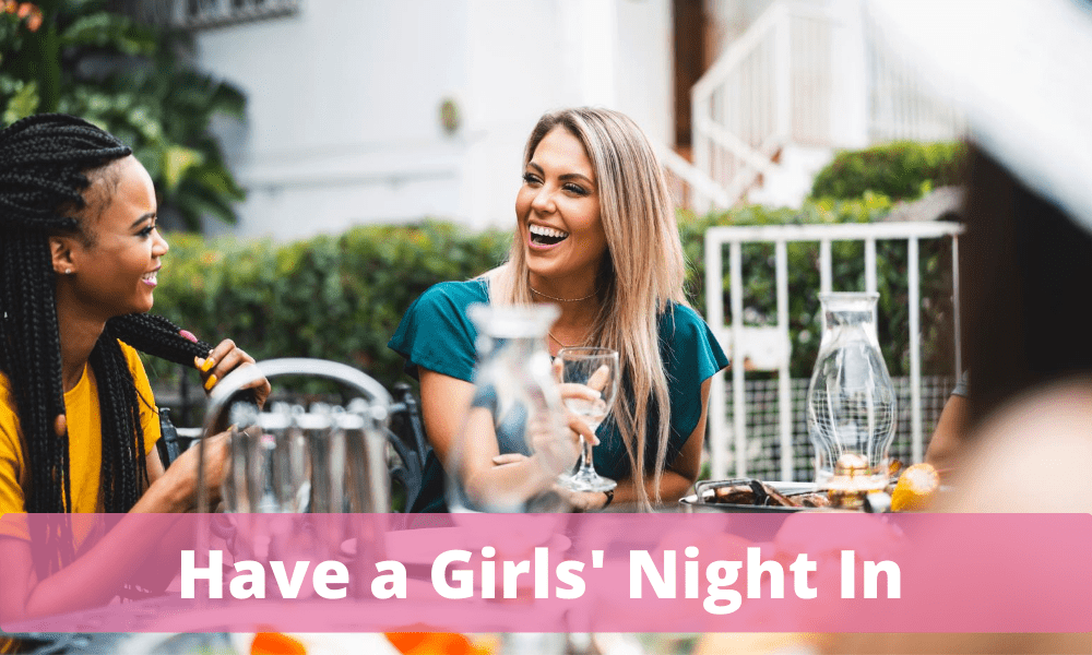 Have a girls night in button SYG GNI breast cancer