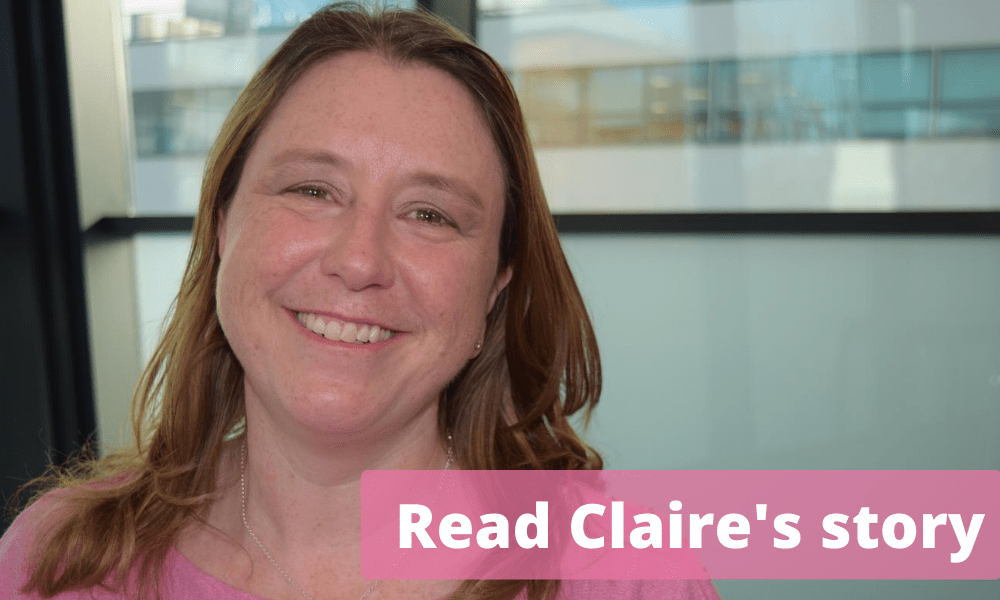 Claire Williamson shares her breast cancer story