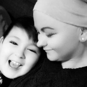 Jill Tsang gave up smoking with the help of Cancer Focus NI for her son Tyler