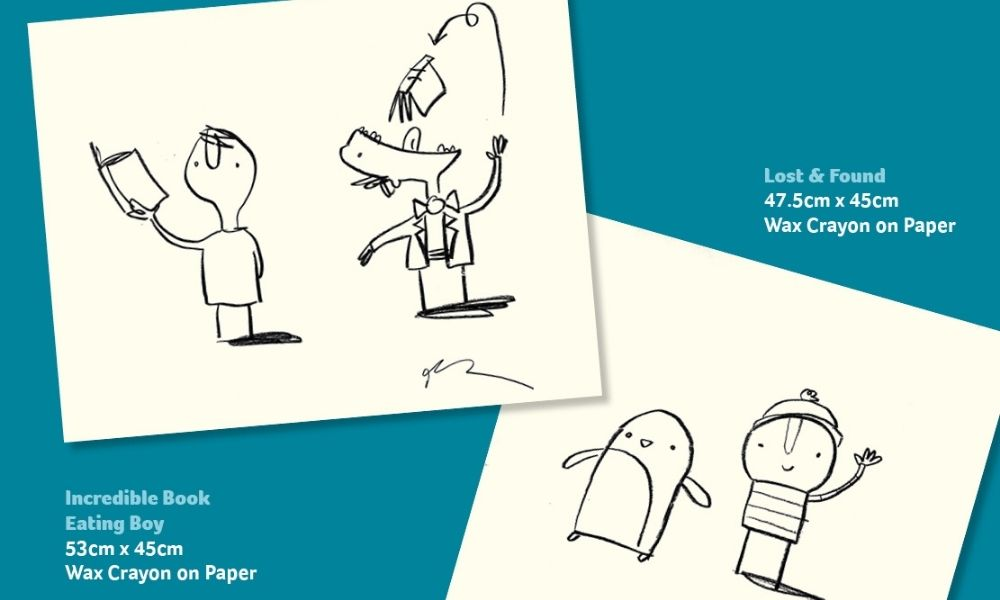 Renowned children's writer Oliver Jeffers donated two illustrations to raise funds for Cancer Focus NI.