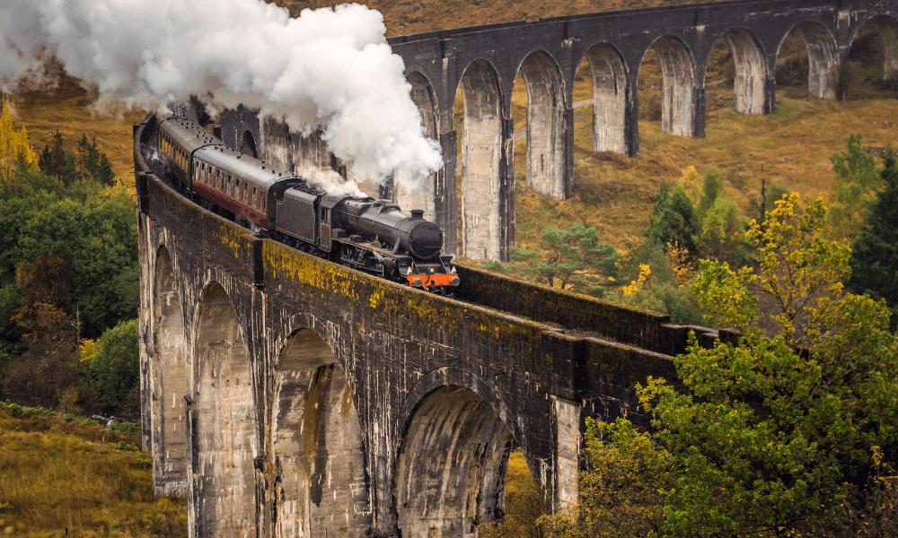 Steam train the Scottish Highlands